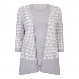 BEIGE LABEL TRIANGLE KNITTED TWINSET - Plus Size Collection