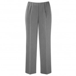 VERPASS GREY STRAIGHT LEG CREASE FRONT TROUSERS - Plus Size Collection