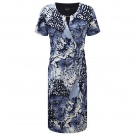 Godske navy print jersey DRESS - Plus Size Collection