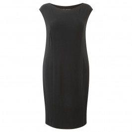 Elena Grunert black jersey dress