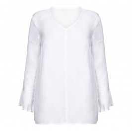 BEIGE LABEL WHITE BELL CUFF TUNIC - Plus Size Collection