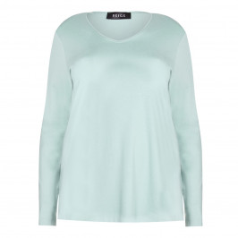 BEIGE label aqua jersey TOP - Plus Size Collection