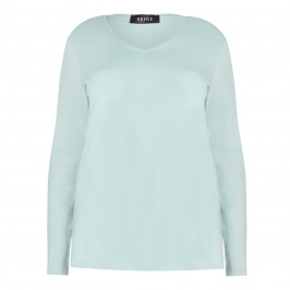 BEIGE label aqua jersey TOP - Plus Size Collection
