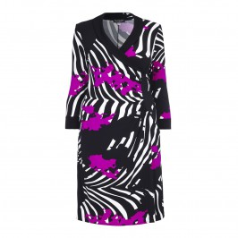 GEORGEDÉ LARGE ABSTRACT PRINT DRESS