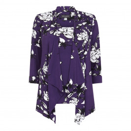 Georgedé Long Floral Print Jacket  - Plus Size Collection
