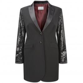ROF AMO LONG SEQUINED JACKET - Plus Size Collection