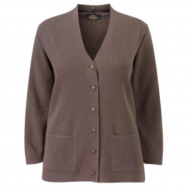 KARIN CARDIGAN KHAKI - Plus Size Collection