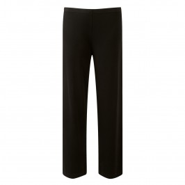 BEIGE BLACK FLUID JERSEY TROUSERS - Plus Size Collection