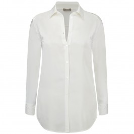 ELENA MIRO WHITE SILK BLOUSE - Plus Size Collection