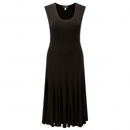 BEIGE LONGUETTE BLACK JERSEY DRESS - Plus Size Collection