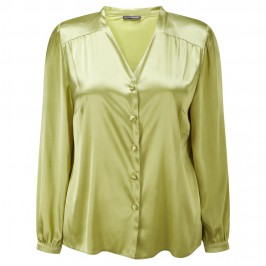 ELENA GRUNERT CHARTREUSE BLOUSE  - Plus Size Collection