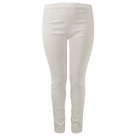 NP beige technostretch pull on narrow leg trousers - Plus Size Collection