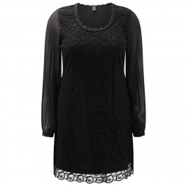 Yoek Lace Detail Tunic - Plus Size Collection