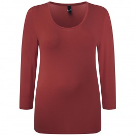 Yoek cherry red scoop neck top - Plus Size Collection