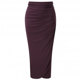 YOEK DRAPED JERSEY SKIRT - Plus Size Collection