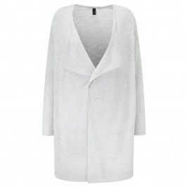 Yoek Long waterfall fine knit Cardigan - Plus Size Collection