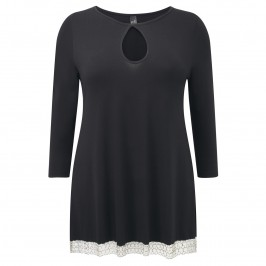 Yoek black chain hem Tunic - Plus Size Collection