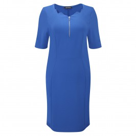 VERPASS COBALT BLUE TAILORED DRESS - Plus Size Collection