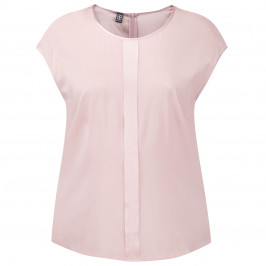 BASLER ROSE PINK SILK STRETCH TOP - Plus Size Collection