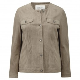 OPEN END SUEDE JACKET - Plus Size Collection