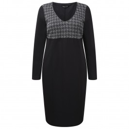 Luisa Viola Houndstooth detail DRESS - Plus Size Collection