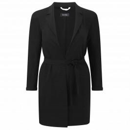 Beige lightweight black COAT - Plus Size Collection