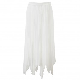 TIA ivory pleated chiffon midi SKIRT - Plus Size Collection
