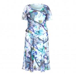 TIA CHIFFON TEA DRESS - Plus Size Collection