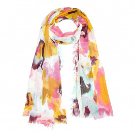 BEIGE label pink floral SCARF - Plus Size Collection