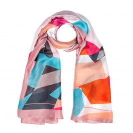 BEIGE pink print SCARF - Plus Size Collection