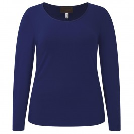 SEMPRE PIU ROYAL BLUE TOP - Plus Size Collection