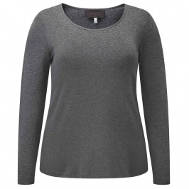 SEMPRE PIU CHARCOAL TOP - Plus Size Collection