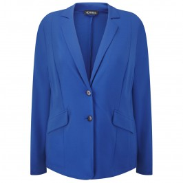 VERPASS soft cobalt blue tailored JACKET - Plus Size Collection