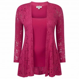 GEORGEDÉ LACE EFFECT CARDIGAN & VEST - Plus Size Collection