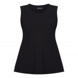 BEIGE LABEL BLACK CHIFFON VEST - Plus Size Collection