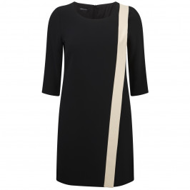 ELENA MIRO black and golden beige DRESS - Plus Size Collection