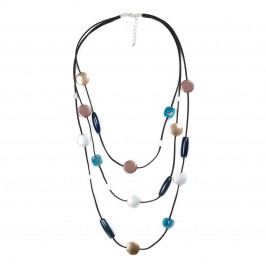 ADELE MARIE MULTICOLORED STONE NECKLACE - Plus Size Collection