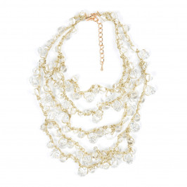 ADELE MARIE CLEAR GLASS BEAD NECKLACE - Plus Size Collection