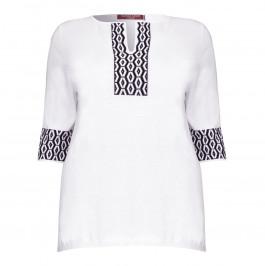 Marina Rinaldi jacquard edged KNITTED TUNIC - Plus Size Collection