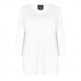 PERSONA BY MARINA RINALDI KNITTED TUNIC WHITE  - Plus Size Collection