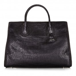 ABRO MOCK-CROC LEATHER HANDBAG - Plus Size Collection