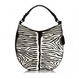 ABRO ZEBRA PRINT HOBO HANDBAG  - Plus Size Collection