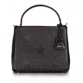 ABRO leather handbag with star shaped studs