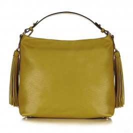 ABRO pistachio LEATHER HOBO BAG WITH TASSELS - Plus Size Collection