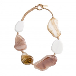 ADELE MARIE FLAT STONES NECKLACE - Plus Size Collection