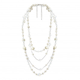 ADELE MARIE pearly multi-strand NECKLACE - Plus Size Collection