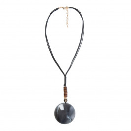 ADELE MARIE GREY PENDANT - Plus Size Collection