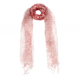 AHMADDY SILK WOOL PAISLEY PRINT SCARF - Plus Size Collection