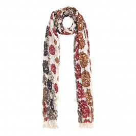Ahmaddy abstract print crushed silk SCARF - Plus Size Collection