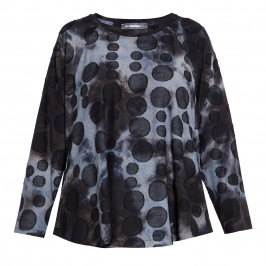 ALEMBIKA TOP WITH SPOT PRINT - Plus Size Collection